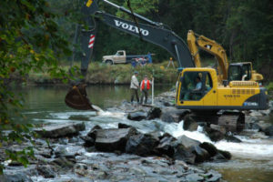 In 2004 the Octoraro Dam in Maryland was removed- photo courtesy of USFWS